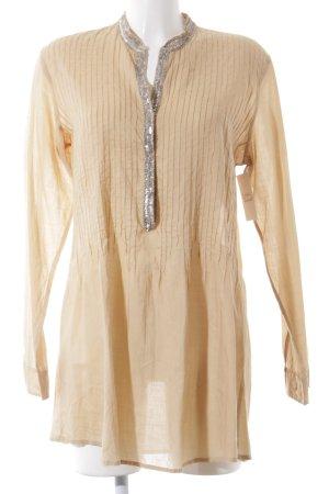 9TO5 Blusa de túnica nude elegante