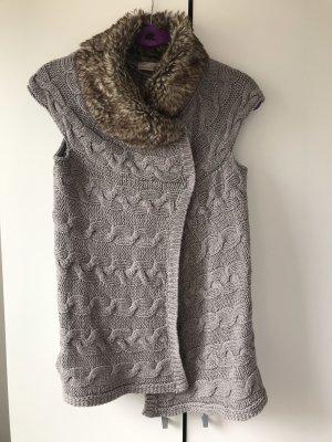 Zara Woman Gilet tricoté gris-bronze