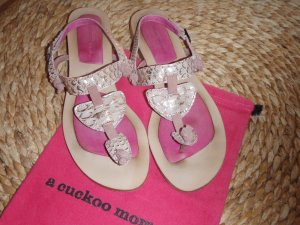 a cuckoo moment T-Strap Sandals nude-rose-gold-coloured