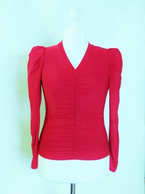 *A. de Zarina* France Abendshirt Top Rot Gr. 2/38/40 *NEU*