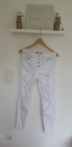 A&F destroyed Ankle Skinny Jeans weiß