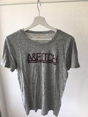 Abercrombie & Fitch Print Shirt light grey-bordeaux