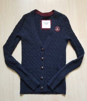 Abercrombie & Fitch Knitted Blazer dark blue