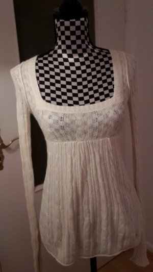 Abercrombie & Fitch Pull tricoté blanc cassé