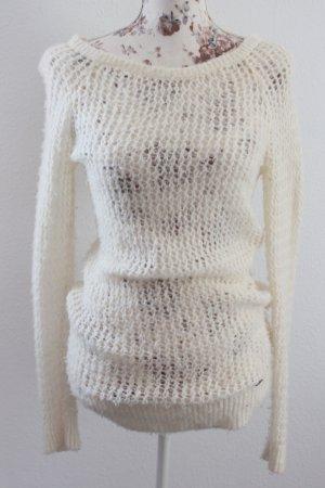 Abercrombie & Fitch Pullover all'uncinetto beige chiaro-bianco sporco