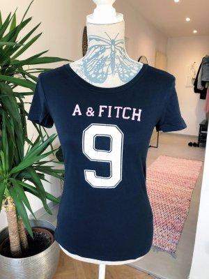 Abercrombie & Fitch T-shirt blu scuro Cotone
