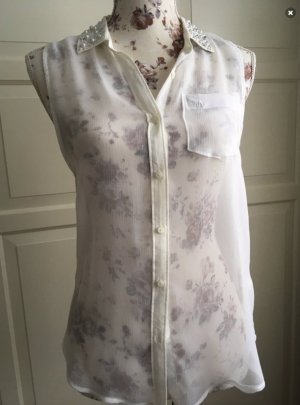 Abercrombie & Fitch Mouwloze blouse wit