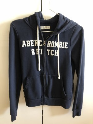 Abercrombie & Fitch Capuchon vest wit-donkerblauw