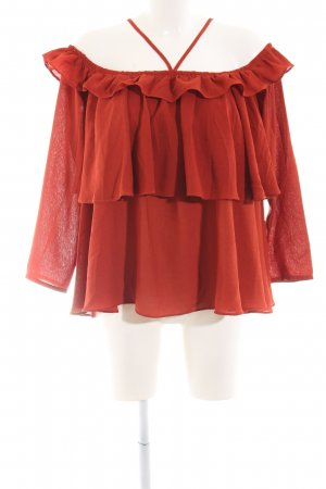 A & G Long Sleeve Blouse russet romantic style