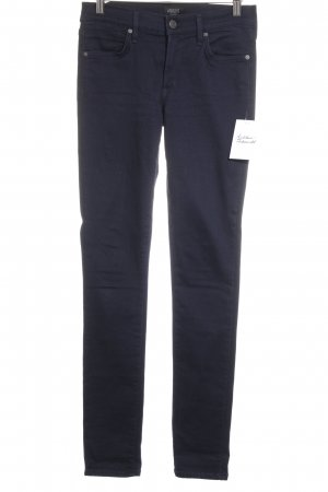 a gold e Carrot Jeans dark blue simple style