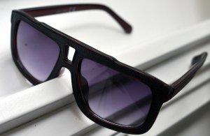 Bril zwart-roodbruin