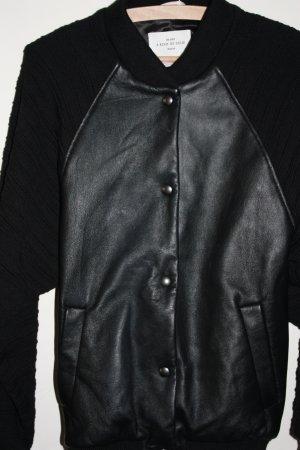 Shirt Jacket black leather