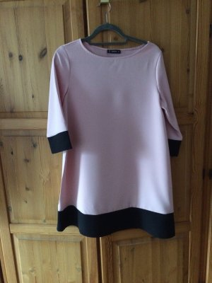 Dress light pink-black