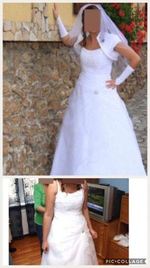 A linie brautkleid Hochzeitskleid  corsage schleppe (abnehmbar) gr 40 42 weiß