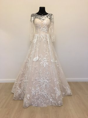 A-Linie Brautkleid Hochzeitskleid Gr. 38 Blush/Ivory