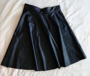 Bleifrei Leather Skirt black