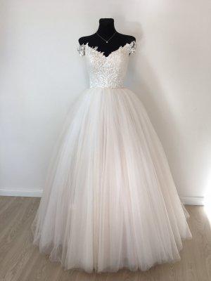 A-Linie Prinzessinnen Brautkleid Hochzeitskleid Gr. 36-40 blush