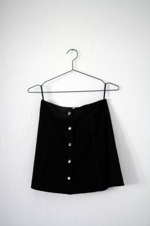 Topshop High Waist Skirt black suede