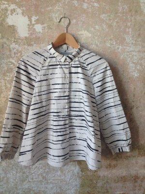 A-Linien Bluse mit unregelmäßigen Streifen