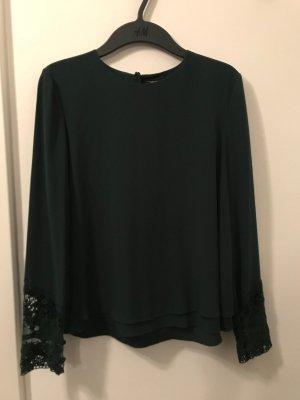 A-Linien Bluse, Tannengrün, ZARA, Größe M