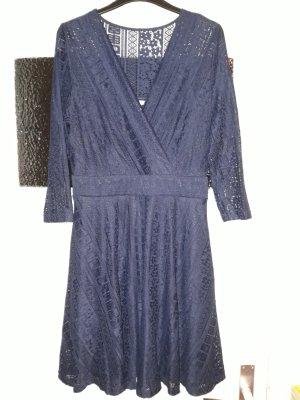 Anna Field Vestido línea A azul