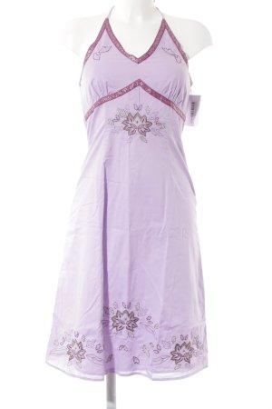 A-Linien Kleid blasslila-violett Blumenmuster Casual-Look