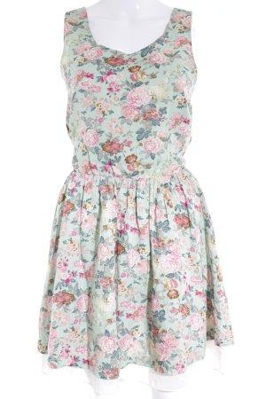 Vestido línea A estampado floral elegante