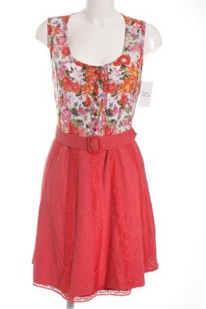 A-Linien Kleid Blumenmuster klassischer Stil