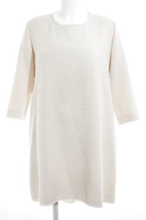 A Line Dress cream-silver-colored check pattern elegant