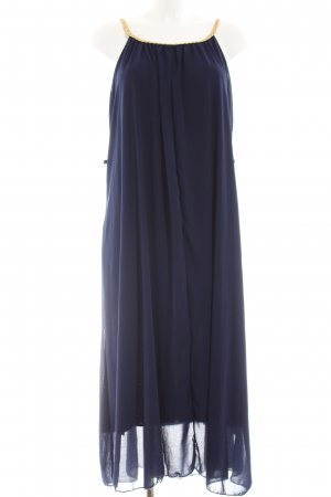 A Line Dress dark blue-gold-colored elegant