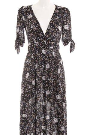 A-Linien Kleid florales Muster Boho-Look