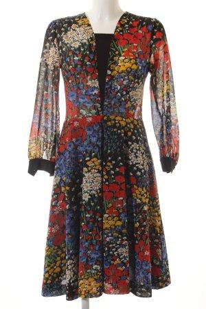 A-Linien Kleid florales Muster Vintage-Look