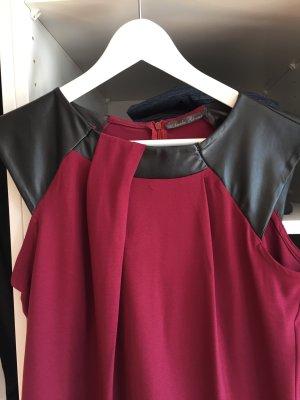 A-Linien Kleid mit Lederaplikationen