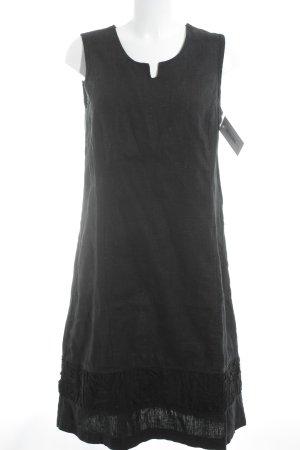 A-Linien Kleid schwarz Ethno-Look