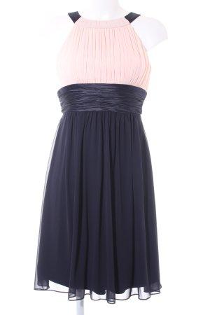 A-Linien Kleid schwarz-nude Elegant