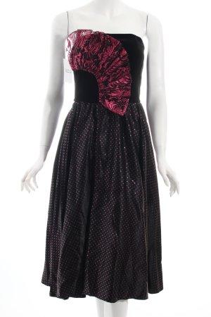 A-Linien Kleid schwarz-pink Party-Look