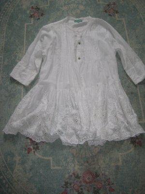 Antica Sartoria Robe trapèze blanc coton