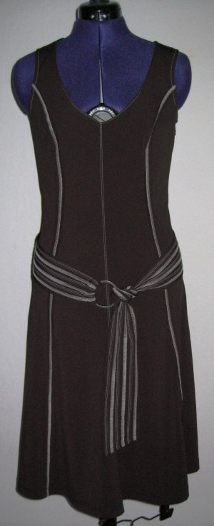 A Line Dress dark brown nylon
