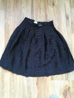 H&M Plaid Skirt black