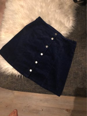 H&M Jupe asymétrique bleu foncé-argenté