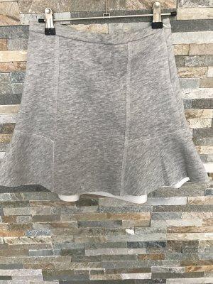 A-Linien Rock aus graumeliertem Jersey in Gr. Xs von Zara