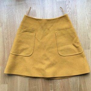 Carven High Waist Skirt dark yellow-sand brown
