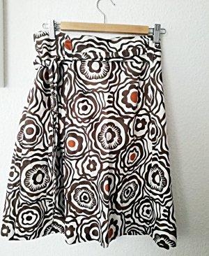 1.2.3 Paris High Waist Skirt cream-brown cotton