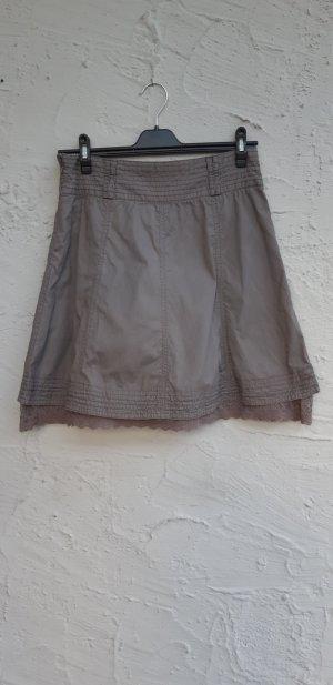 Zero Falda acampanada marrón grisáceo Algodón