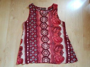 A-Linien-Top * Boho-Stil * Ethno-Muster * rot-gemustert * Gr. 36/38 * handmade