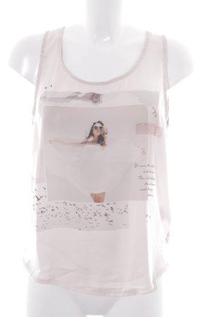 A-Linien Top rosé-hellbraun Allover-Druck Casual-Look