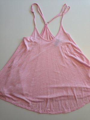A-linienförmiges, rosa Top von Mango mit kleiner Brusttasche
