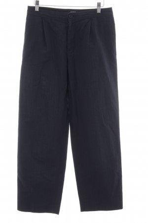 A.P.C. Pantalon 7/8 noir style d'affaires