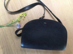 A.P.C. Crossbody bag black brown leather