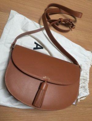 A.P.C. Crossbody bag cognac-coloured